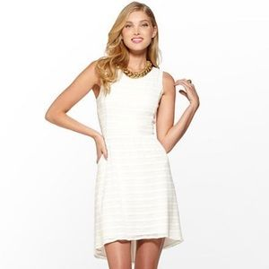 NWT Lilly Pulitzer Nicollet Dress Resort White L
